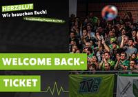 Jetzt Welcome back-Tickets fürs erste Zuschauerspiel sichern